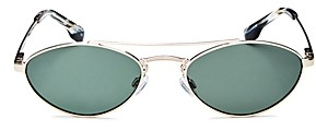 Le Specs Luxe Unisex Liaison Brow Bar Oval Sunglasses, 55mm