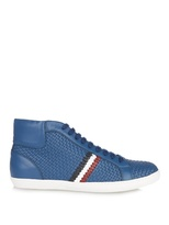 Moncler Mont Charles High-tops Leather Trainers