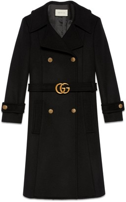 Gucci Wool coat with Double G belt