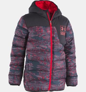 Under Armour Boys' Toddler UA Printed Swarmdown Hooded Jacket