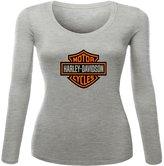Harley Davidson Printed long sleeve Tops T shirts Harley Davidson Printed For Ladies Womens Long Sleeves Tops