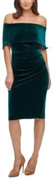 Vince Camuto Velvet Off-The-Shoulder Sheath Dress