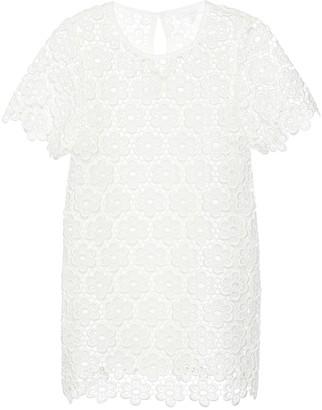 Chloé Kids Floral lace dress