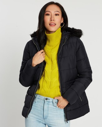 Dorothy Perkins Fresh and New Short Faux Fur Padded Jacket