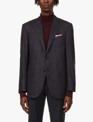 Corneliani Multi-check single virgin wool jacket