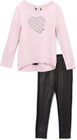 Juicy Couture Pink Heart Pullover & Leggings - Toddler & Girls