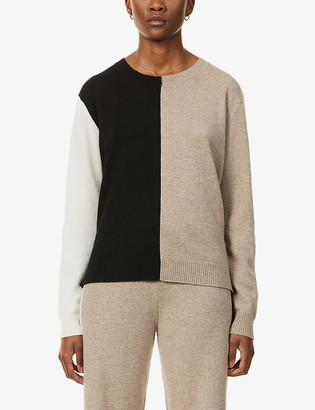 Chinti and Parker Colour-block cashmere jumper