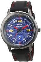 Trias Men's Quartz Watch with Black Dial Analogue Display Quartz Rubber Door 18