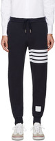 Thom Browne Navy Cropped Lounge Pants