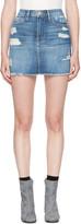 Frame Blue Denim 'Le Mini' Miniskirt