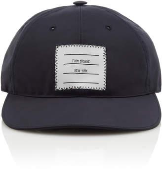 Thom Browne Logo-Patch Shell Baseball Cap