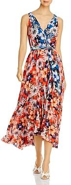 Johnny Was Priyanka Printed Silk Wrap Maxi Dress