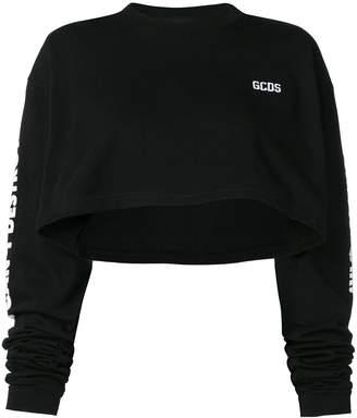 GCDS cropped logo sweatshirt