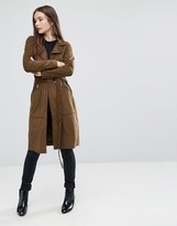 Only Jennifer GD Faux Suede Trench Coat