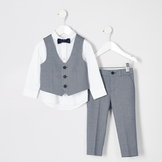 River Island Mini boys Blue suit outfit
