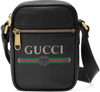 Gucci Print leather shoulder bag