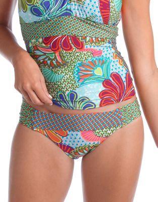 Trina Turk Zanzibar Shirred Hipster Swim Bottoms