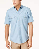 Club Room Men's Two-Pocket Chambray Shirt, Created for Macy's