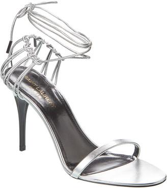 Saint Laurent Lexi 90 Leather Sandal