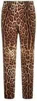 Dolce & Gabbana Leopard Print Silk Pyjama Trousers