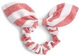 J.Crew Stripe Bow Hair Tie