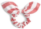 J.Crew Women's Stripe Bow Hair Tie