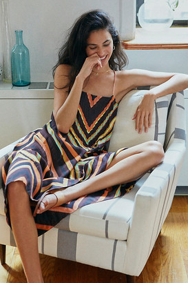 Anthropologie Chevron Slip Dress By in Assorted Size S