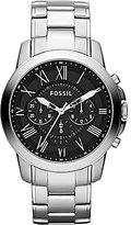 Fossil Grant Men's Silvertone Dress Watch Bracelet