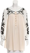 Temperley London Swiss Dot Silk Tunic