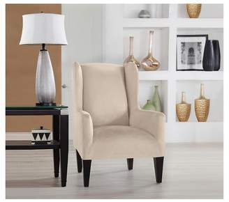 Serta Stretch Fit Microsuede Wingchair Slipcover