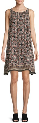 Max Studio Printed Sleeveless Shift Dress