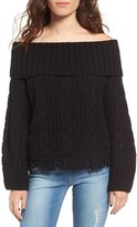 Moon River Women's Off The Shoulder Sweater