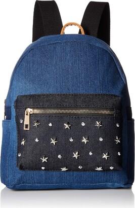 Twig & Arrow Women's Star Studs Denim Mini Backpack