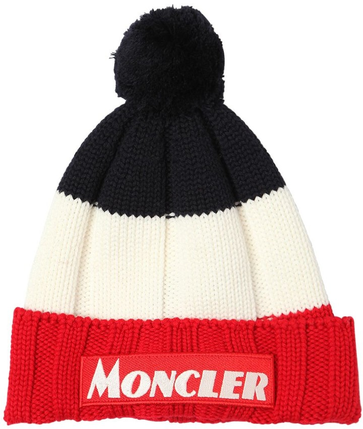ea8efd136 COLOR BLOCK VIRGIN WOOL BEANIE