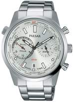 Pulsar Men's PY7001 Stainless Steel Dual Time Sport Wrist Watch
