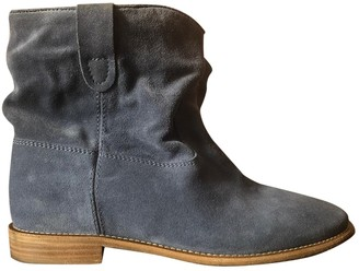 Isabel Marant Crisi Blue Suede Ankle boots