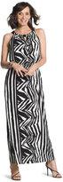 Chico's Knit Zebra Maxi Dress