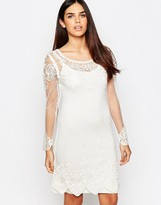 Club L Embroidered Mesh Tunic Dress