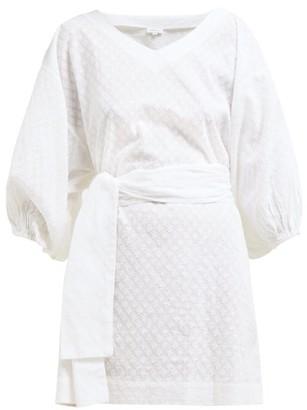 Rhode Resort Arya Fil-coupe Cotton Mini Dress - Womens - White