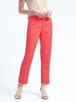 Banana Republic Avery-Fit Linen-Blend Pant