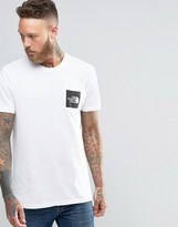 The North Face T-shirt With Pocket Box Logo In White