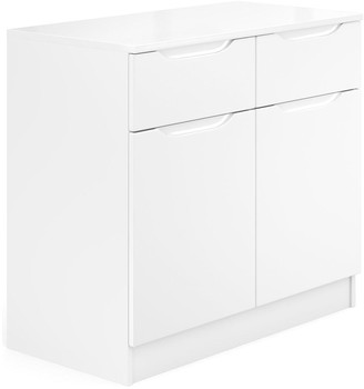 Bilbao Ready Assembled Compact High Gloss Sideboard - White