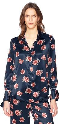 The Fifth Label Women's Jordan Print Silky Sleeve Button Down Pajama Shirt