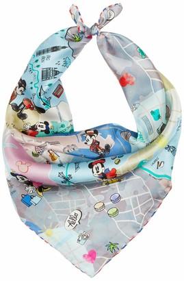 Codello Women's Mini-Carre Disney Mickey Mouse aus Reiner Seide Made of Pure Silk