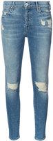 Mother ripped trim skinny jeans - women - Cotton/Spandex/Elastane - 24