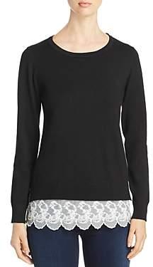Sioni Lace-Hem Sweater