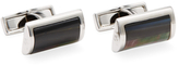 Canali Mother of Pearl D-Shaped Rectangular Cufflinks