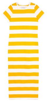 L.F. Markey Paolo Dress Yellow Stripe - 8