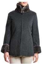 Eleventy Women's Grey Wool Coat.