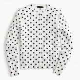 J.Crew Cotton Jackie cardigan sweater in dot